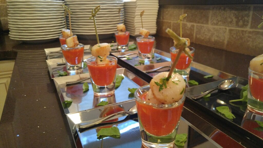 canapes and finger food catering Vancouver