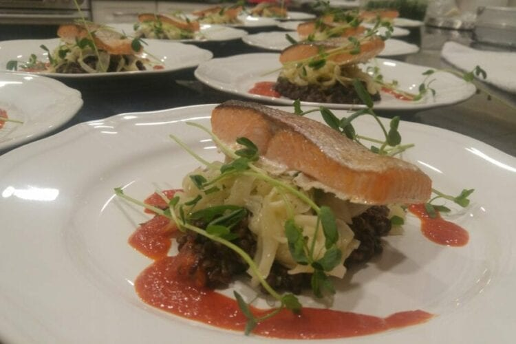 private chef main course with salmon