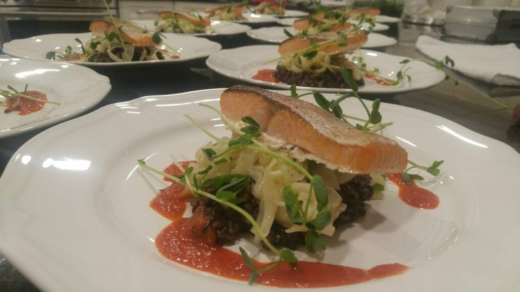 private chef main course with salmon