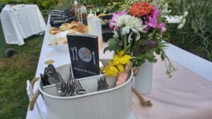 BBQ party catering or backyard party chef catering is popular in the summer