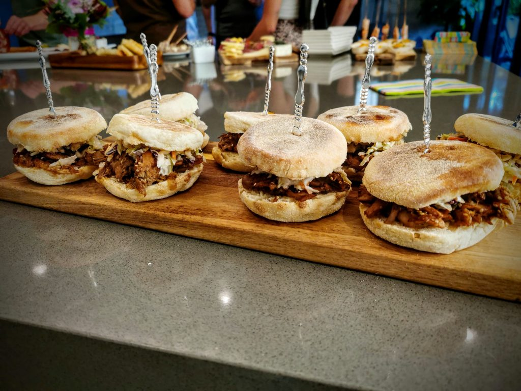 Sliders for a walking dinner style catering
